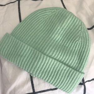 light mint green beanie